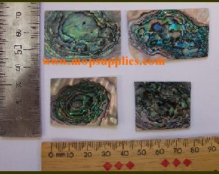 green abalone heart blanks