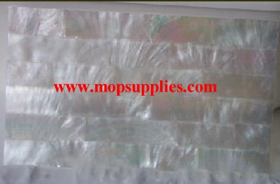 Silver MOP strip glued sheets